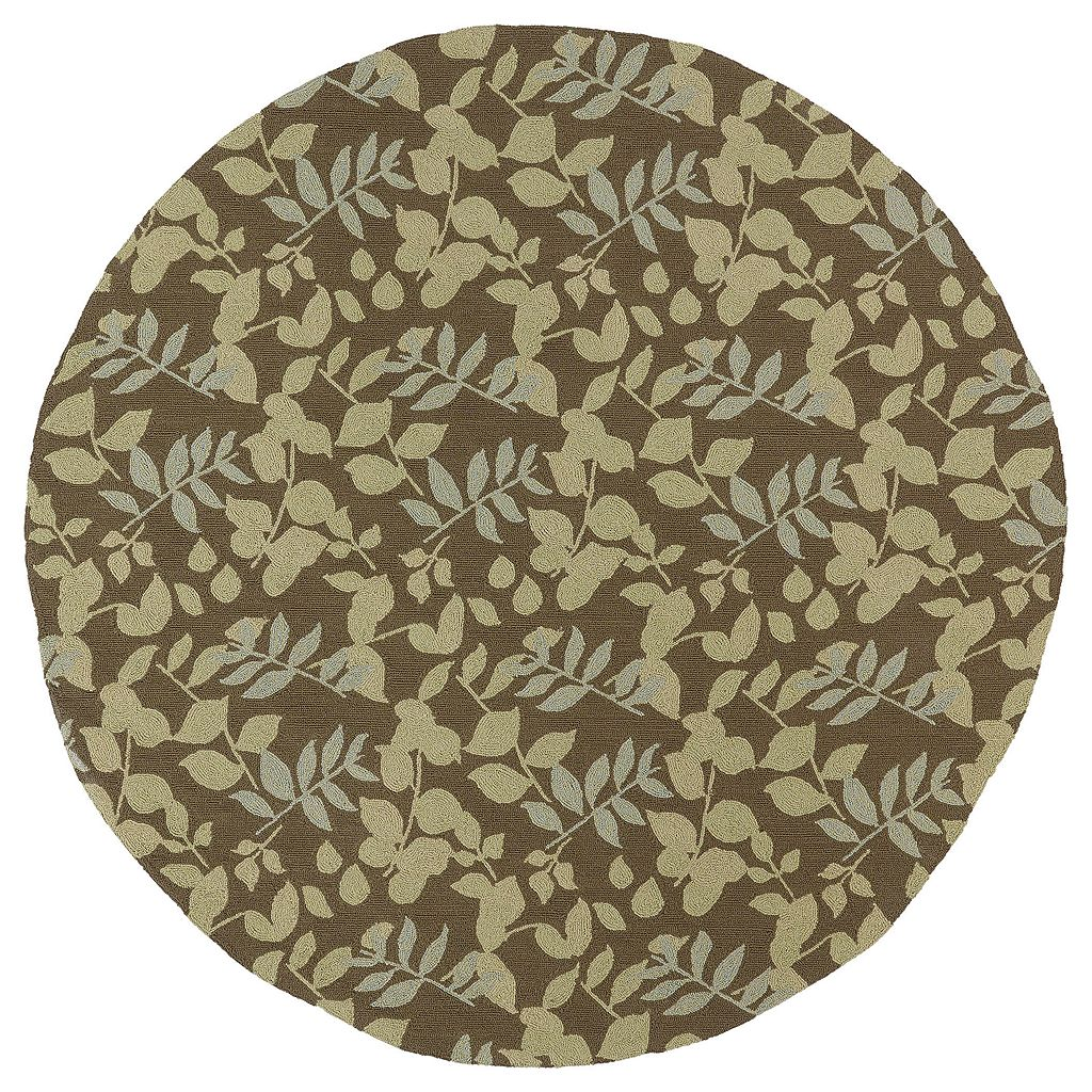 Kaleen Home & Porch Wymberly Leaf Indoor Outdoor Rug