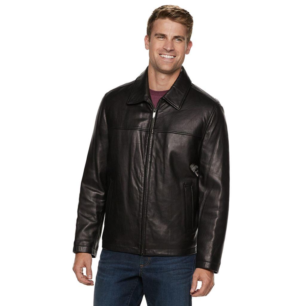 Men's Dockers Leather Shell Open-Bottom Jacket