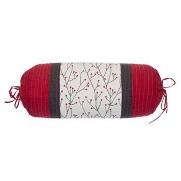 Mistletoe Neck Roll Throw Pillow