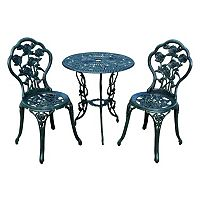 Rose Outdoor Bistro Table 3 pc Set