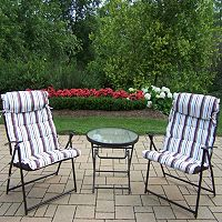 Comfy Foldable Outdoor Furniture 3-piece Set