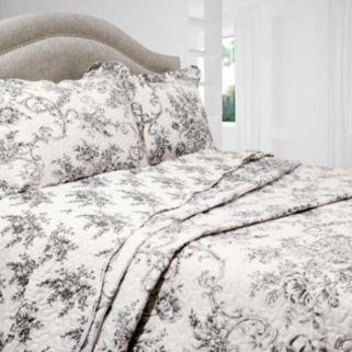 Francesca Floral Reversible Quilt Set