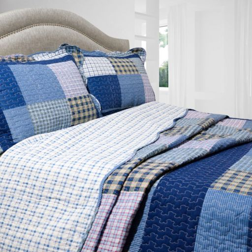 Mulberry Reversible Quilt Set