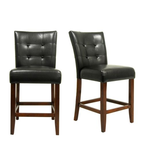 HomeVance 2-piece Parkway Button Tufted Counter Chair Set