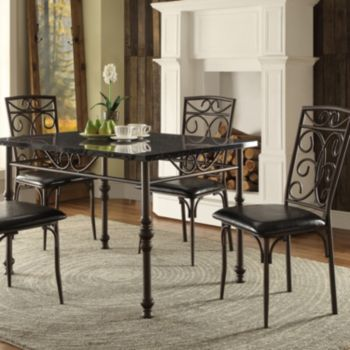 HomeVance 5-piece Lucy Dining Table & Chair Set