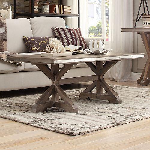 HomeVance Lorado Metal Accent Coffee Table