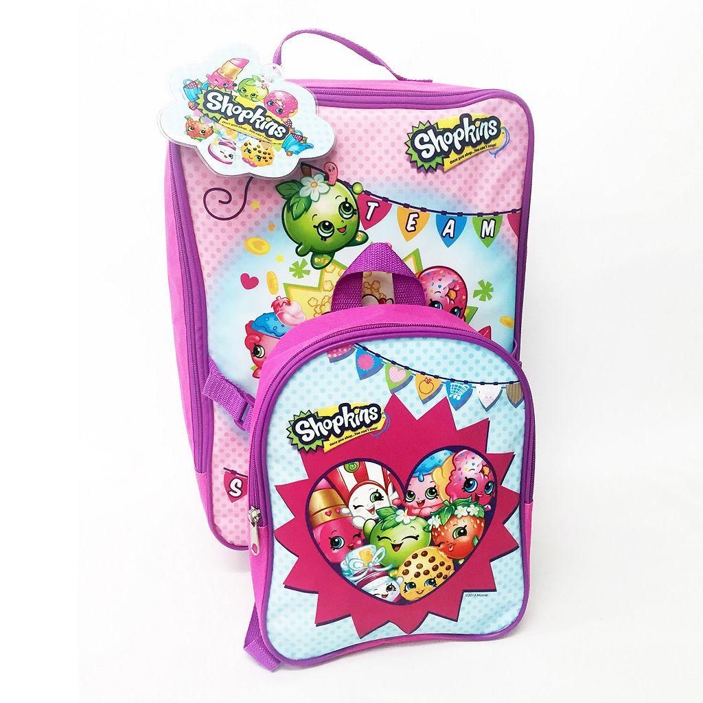 Moose Shopkins Kids' 3-Piece Luggage Set