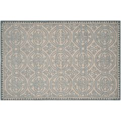 Safavieh Cambridge Dusty Blue Ornate Geometric Wool Rug