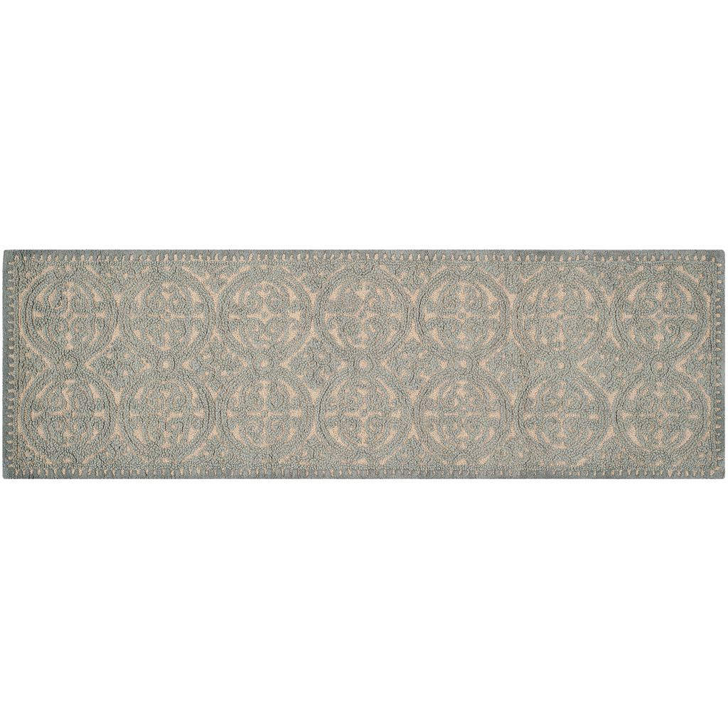 Safavieh Cambridge Dusty Blue Ornate Geometric Wool Rug