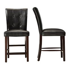 HomeVance 2 pc Conrad Tufted Counter Chair Set