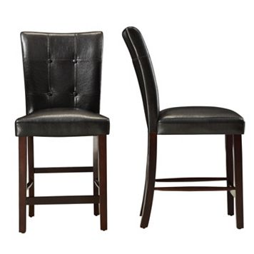 HomeVance 2-piece Conrad Tufted Counter Chair Set