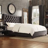 HomeVance Stanford Heights Tufted Wingback Bed