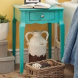 HomeVance Isabella 1-Drawer Scalloped End Table