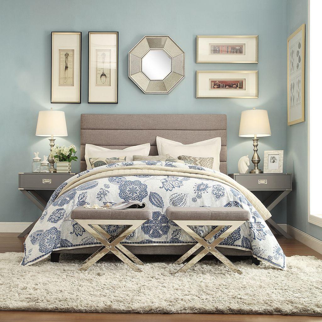 HomeVance Vinton Channel Tufted Bed Frame