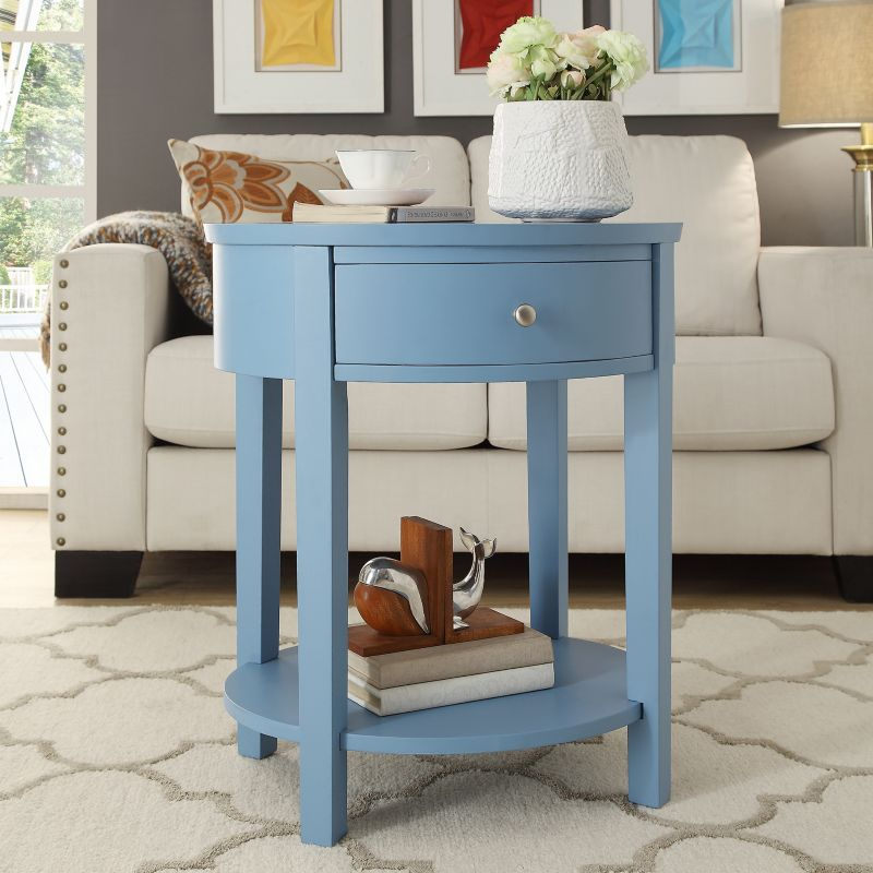 HomeVance Ellen End Table, Blue
