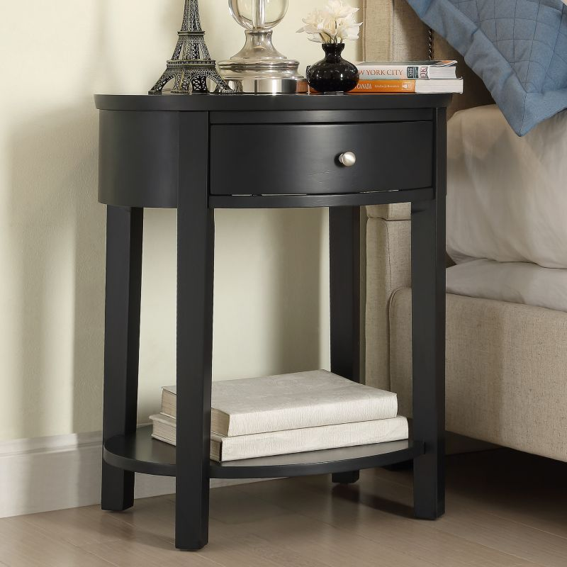 HomeVance Ellen End Table, Black