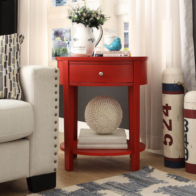 HomeVance Ellen End Table, Red