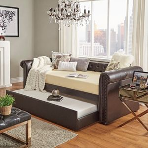 HomeVance Vanderbilt Chesterfield Button Tufted Day Bed