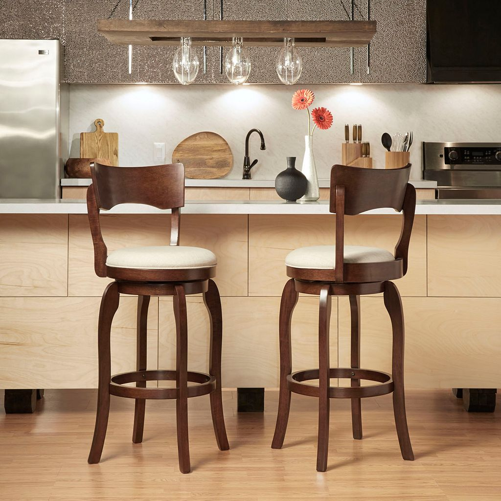 HomeVance Barrett Swivel Bar Stool