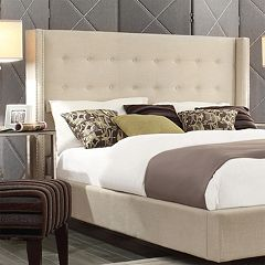 HomeVance Simone Tufted Wingback Headboard