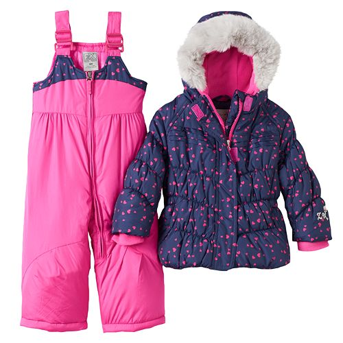 bd97b854b Baby Girl ZeroXposur Jacket & Bib Snow Pants Set