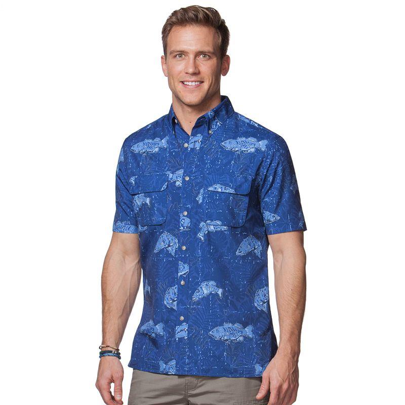 Men's Chaps Fish Button-Down Shirt