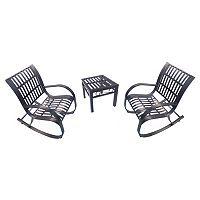 Noble Patio Rocking Chair 3 pc Set