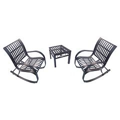Noble Patio Rocking Chair 3-piece Set