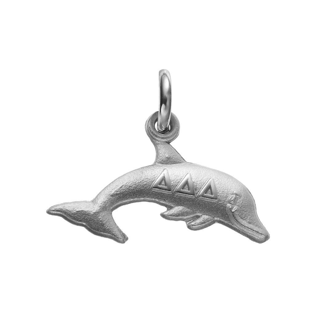 LogoArt Sterling Silver Tri Delta Sorority Dolphin Charm
