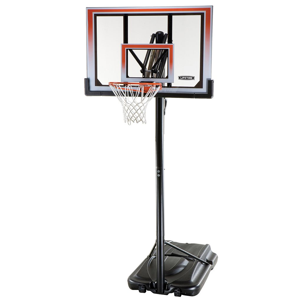 Lifetime 50-in. XL Base Shatterproof Action Grip Portable Basketball System