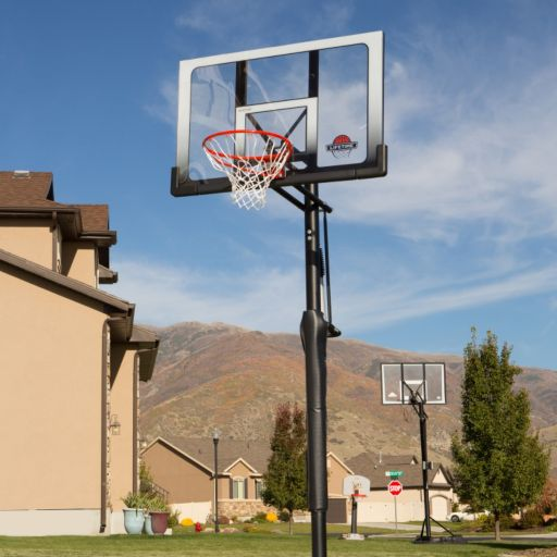 Lifetime 52-in. Shatterproof Power Lift In-Ground Basketball System