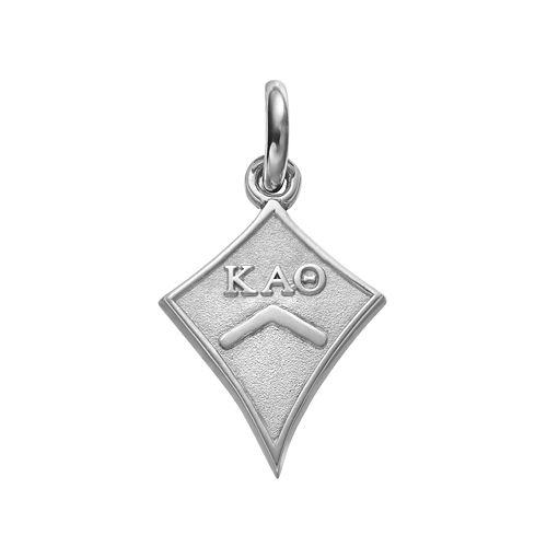 LogoArt Sterling Silver Kappa Alpha Theta Sorority Kite Charm