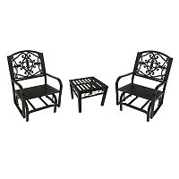 Lakeville Patio Glider Chair 3-piece Set