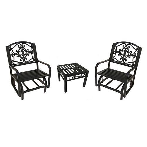 Lakeville Patio Glider Chair 3-piece Set