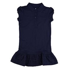 Girls 4-6x Chaps School Uniform Ruffled Polo Shirt Dress