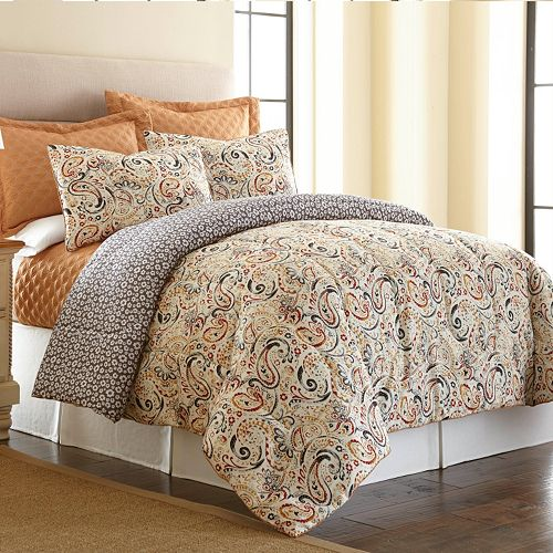 PCT Home collection Mavia 6-pc. Reversible Comforter & Coverlet Set