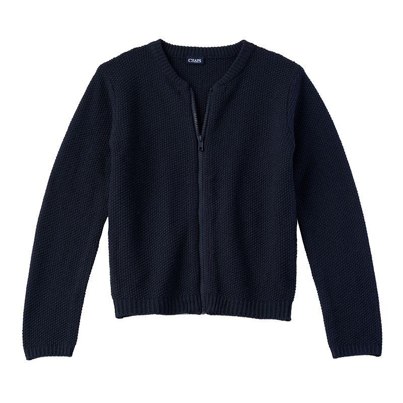 Girls 4-6x Chaps School Uniform Full-Zip Cardigan