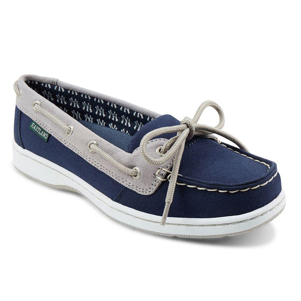 467c779d74 Women s Eastland New York Yankees Sunset Boat Shoes