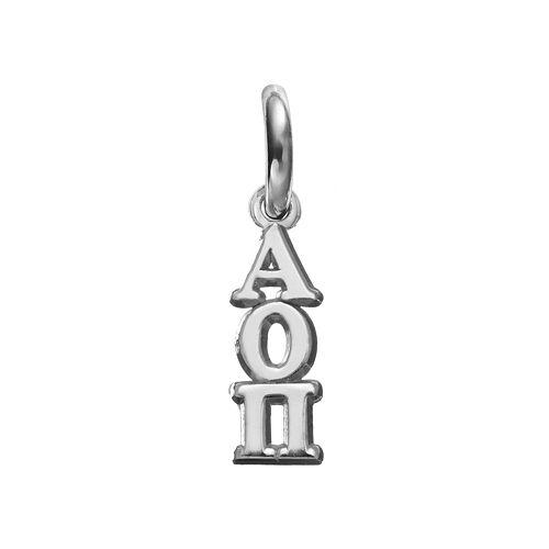 LogoArt Alpha Omicron Pi Sterling Silver Sorority Charm