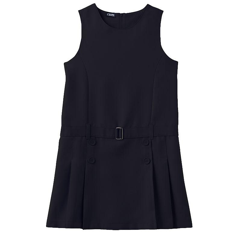 Girls 7-16 Chaps School Uniform Pleated Jumper