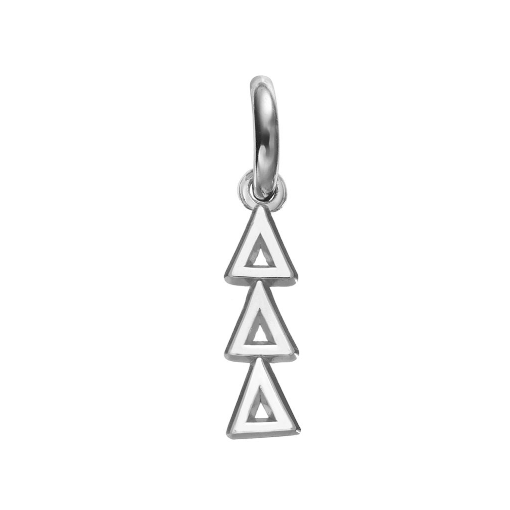 LogoArt Tri Delta Sterling Silver Sorority Charm