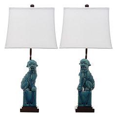 Safavieh 2 pc Foo Dog Table Lamp Set