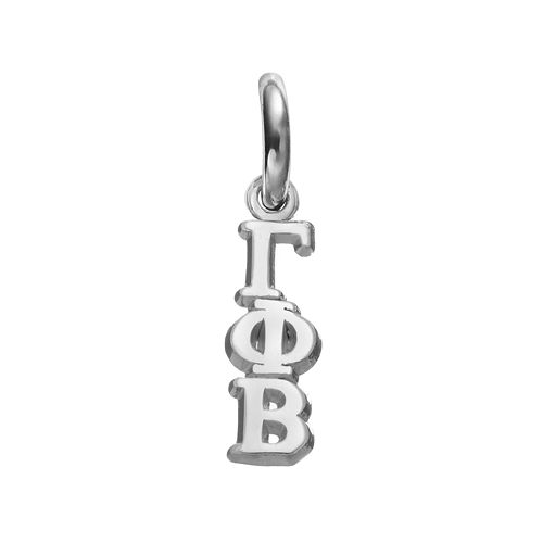 LogoArt Gamma Phi Beta Sterling Silver Sorority Charm