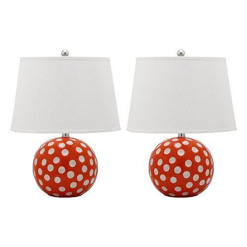 Safavieh 2-piece Polka Dot Circle Lamp Set