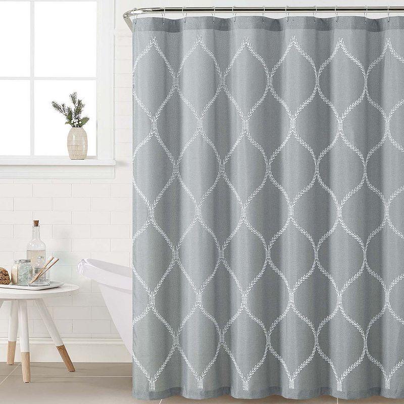 Victoria Classics Kimberly Fabric Shower Curtain