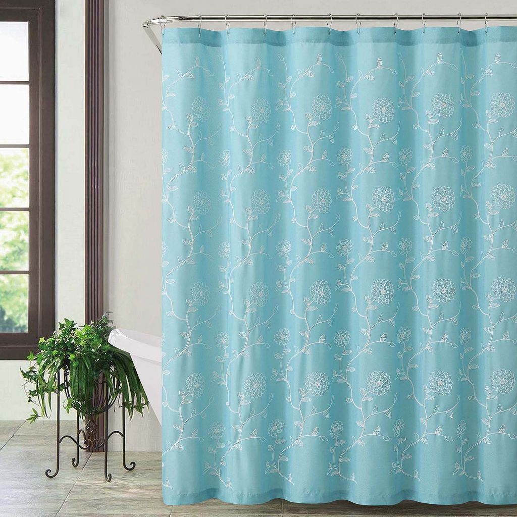 VCNY Rebecca Fabric Shower Curtain