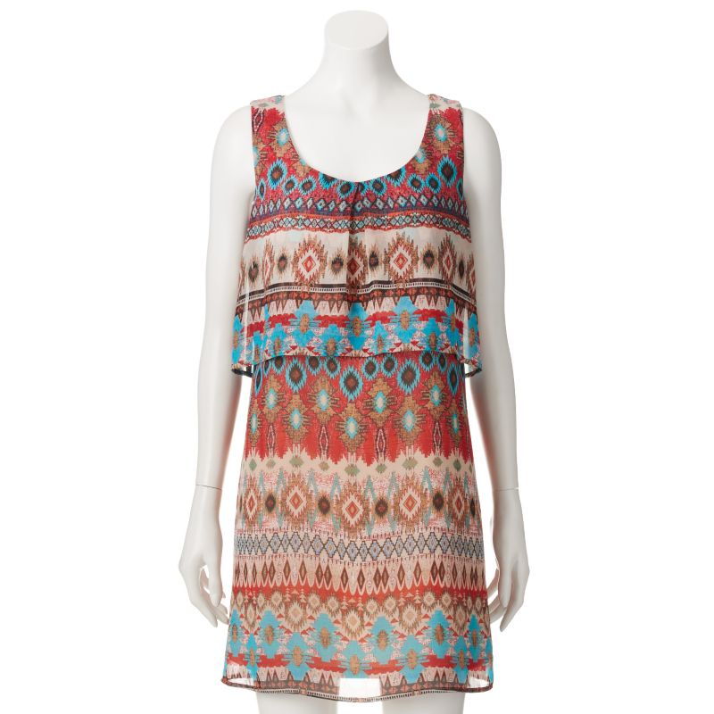 Popover Chiffon Dress