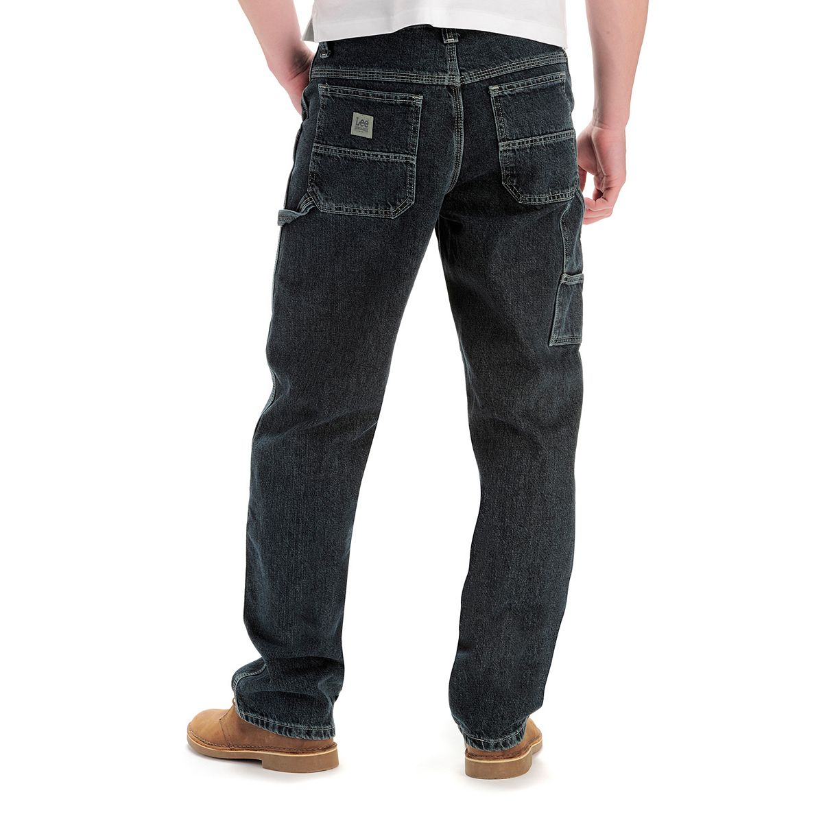Big & Tall Lee® Dungarees Flex-Waist Carpenter Jeans Original Stone oj4Nq