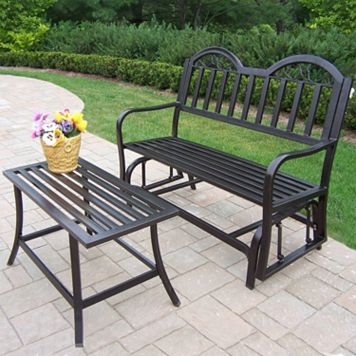Rochester Outdoor Glider Bench 2-piece Set