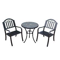 Rochester Outdoor Bistro Table & Chair 3-piece Set